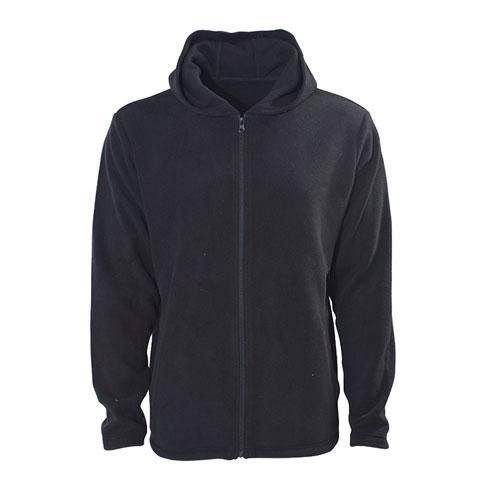 Men's Hooded Fleece Jacket, Black, swatch
