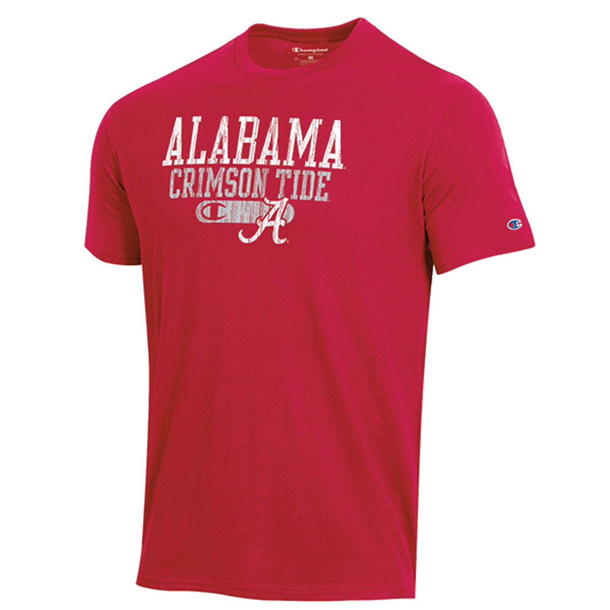 Alabama Bar Script Short Sleeve Shirt, White, swatch