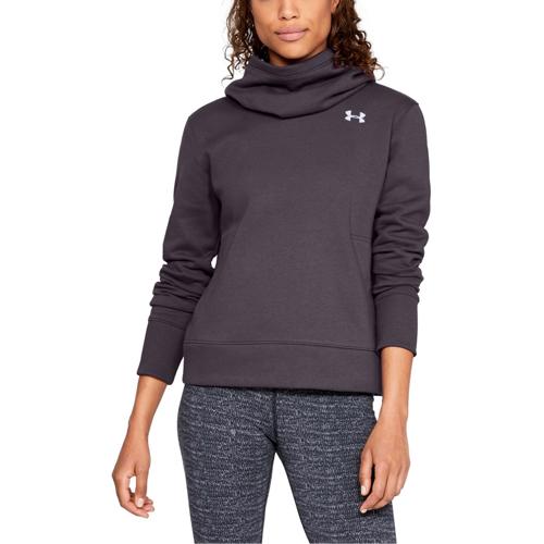 Women's Cotton Fleece Logo Hoodie, Charcoal,Smoke,Steel, swatch