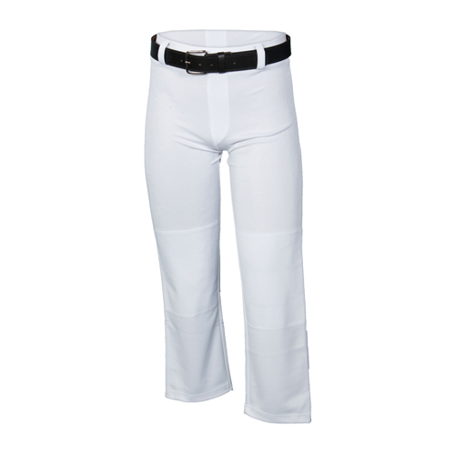 Youth Open Bottom Baseball Pant, White, swatch