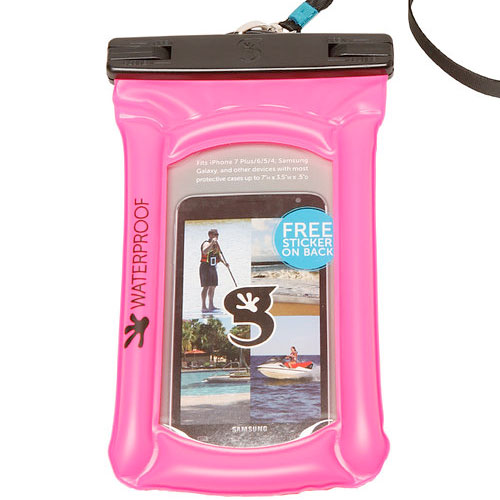 Waterproof Float Phone Dry Bag, Pink, swatch
