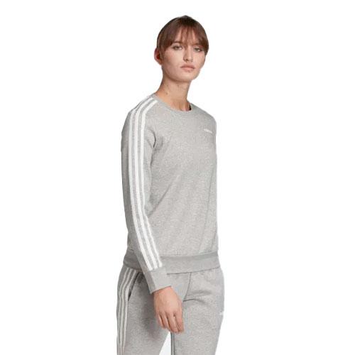 Women's Essentials 3-stripes Sweatshirt, Heather Gray, swatch