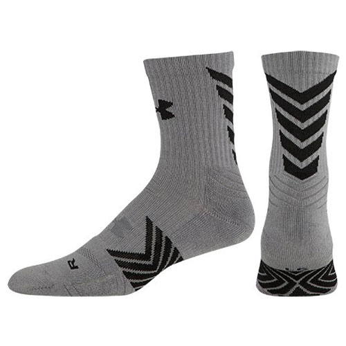 Undeniable Mid Crew Sock, Gray/Black, swatch