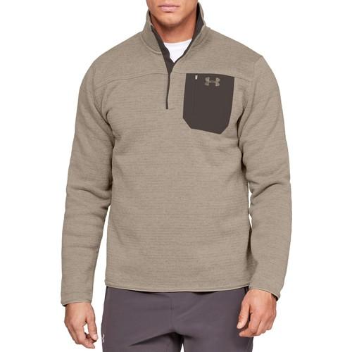 Men's Long Sleeve Specialist Henley 2.0 Fleece, Brown, swatch