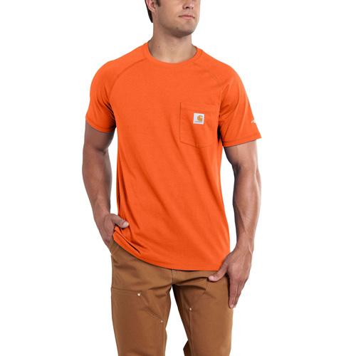 Men's Short Sleeve Force Cotton Delmont Tee, Orange, swatch