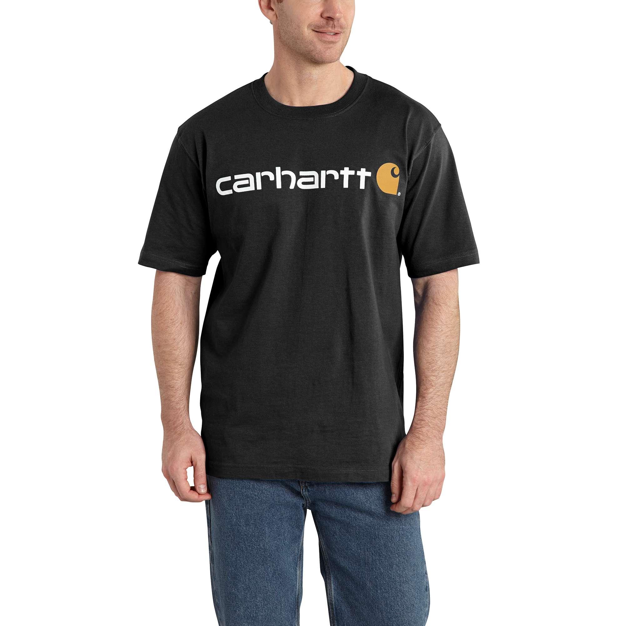 Men's Short Sleeve Logo T-Shirt, Black, swatch
