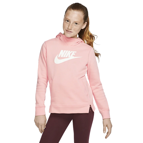 Gilr's Sportswear Pullover Hoodie, Coral, swatch