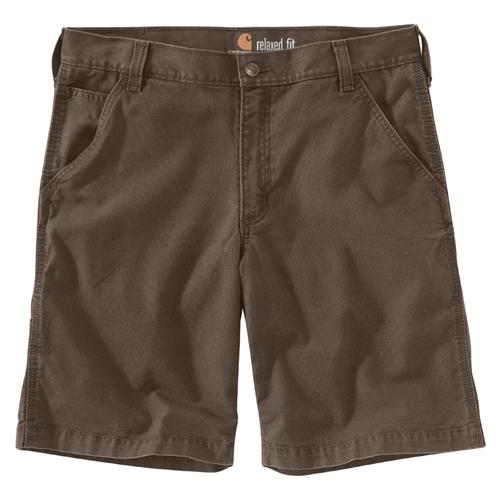 Men's Rugged Flex Rigby Shorts, Brown, swatch