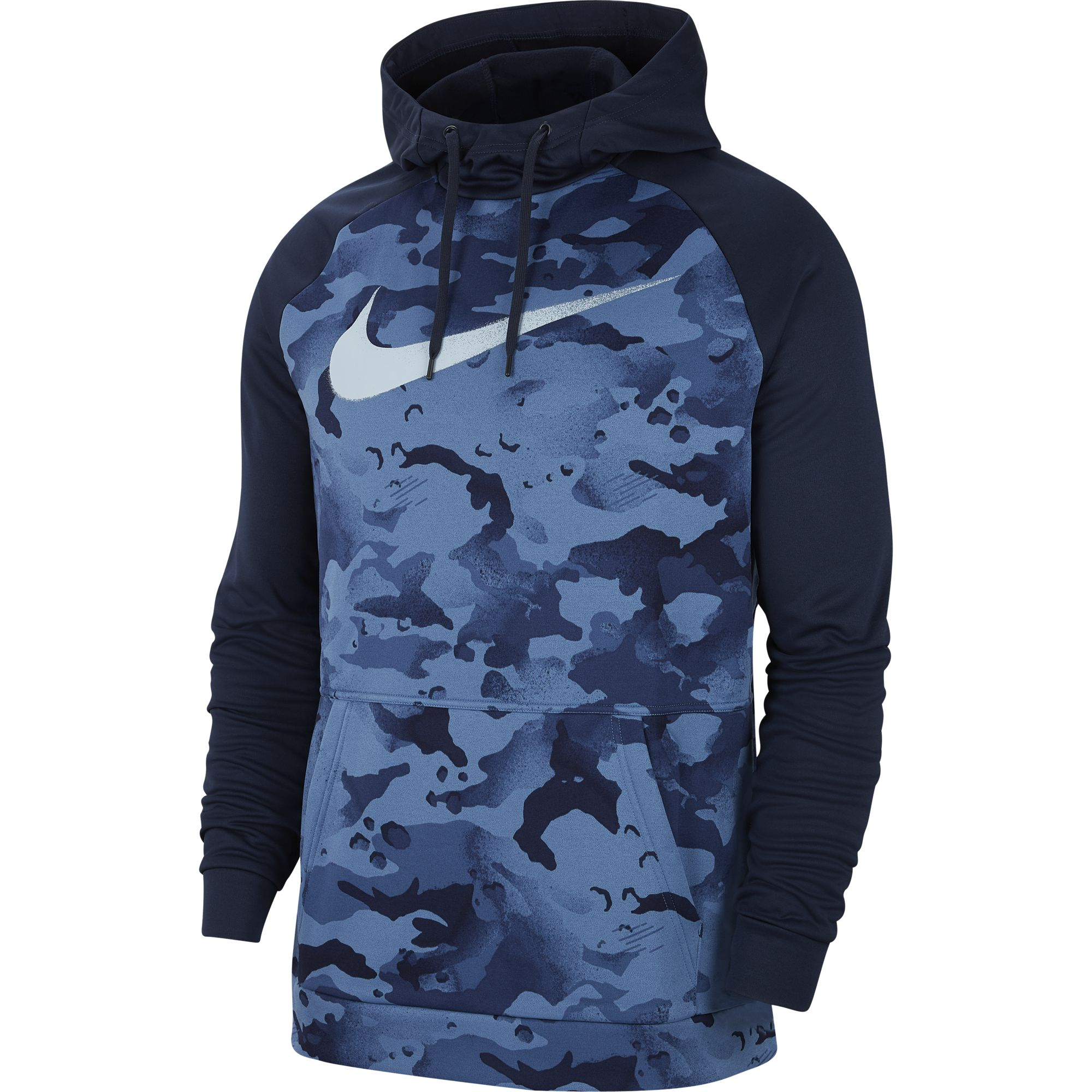 Men's Pullover Training Hoodie, Navy, swatch