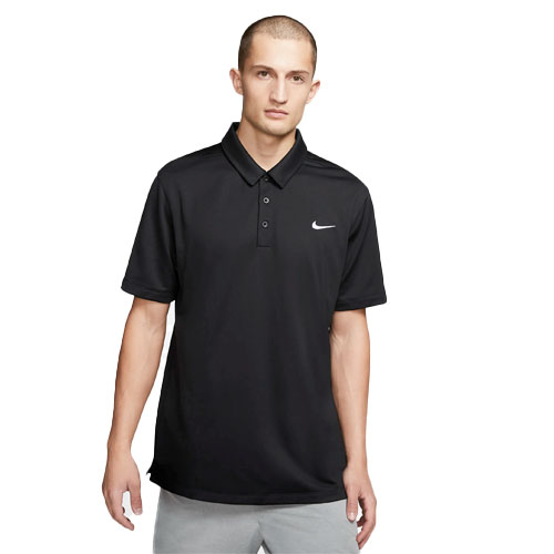 Men's Short Sleeve Polo Shirt, Black, swatch