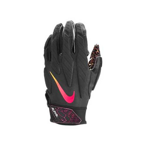 Adult Superbad 5.0 Football Gloves, Charcoal/Red, swatch