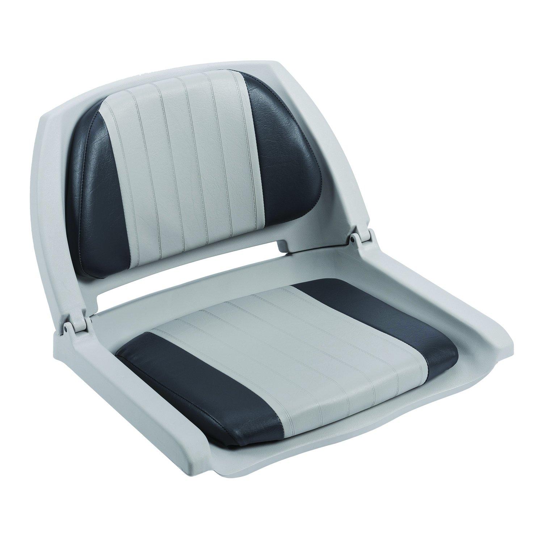 Plastic Folding Boat Seat, Gray, swatch