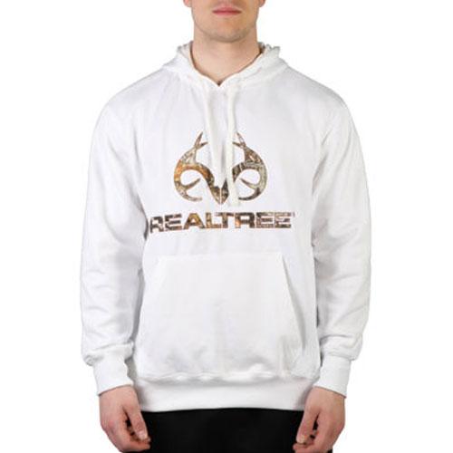 Men's Realtree Logo Hoodie, White, swatch