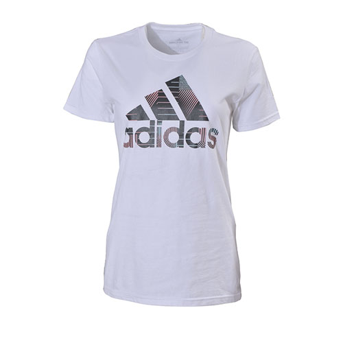 Women's Badge of Sport T-Shirt, White, swatch