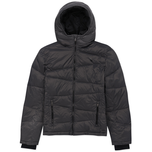 Boy's Puffer Ski Jacket, Charcoal,Smoke,Steel, swatch