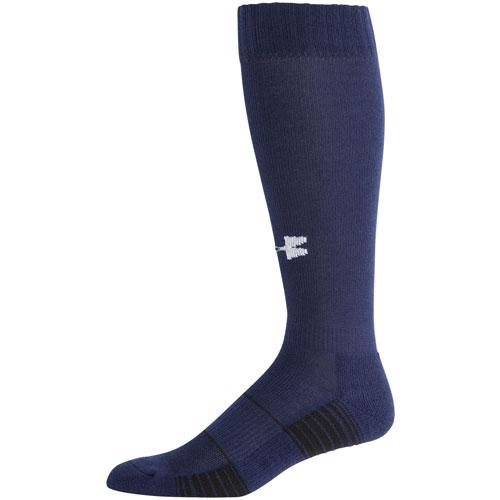 Team Football Over-the-Calf Socks, Royal Blue/Navy, swatch