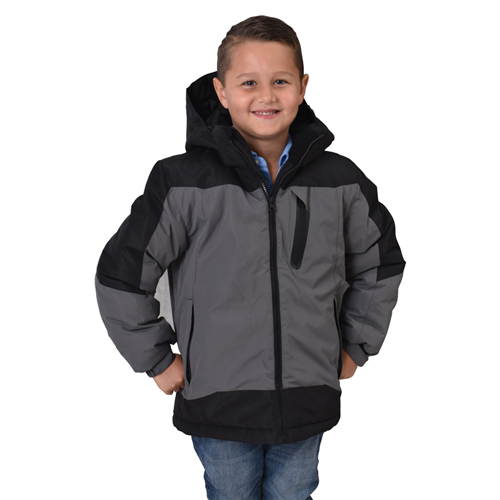 Boy's Swiss Insulated Jacket, Black, swatch