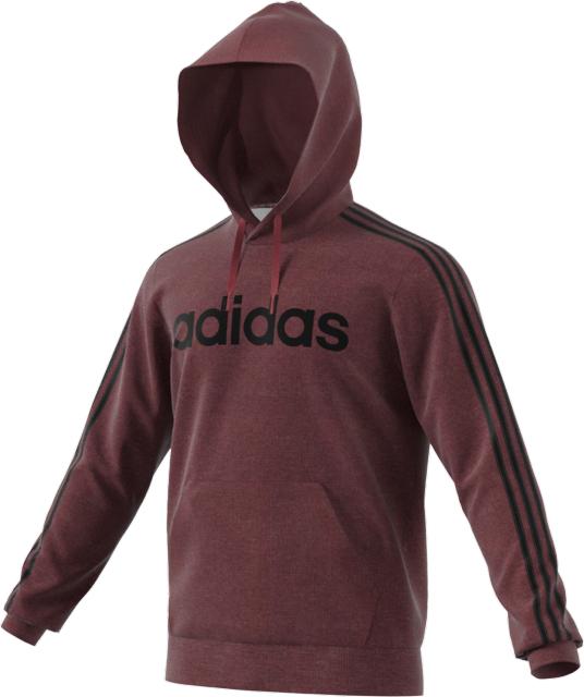 Men's 3-Stripes Logo Fleece, Red, swatch