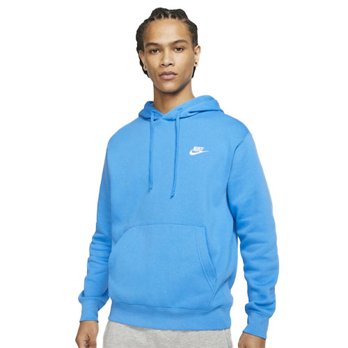 Men's Sportswear Club Fleece Pullover Hoodie, Blue, large