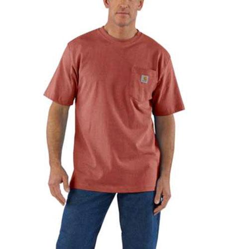 Men's Workwear Pocket Tee, Red, swatch