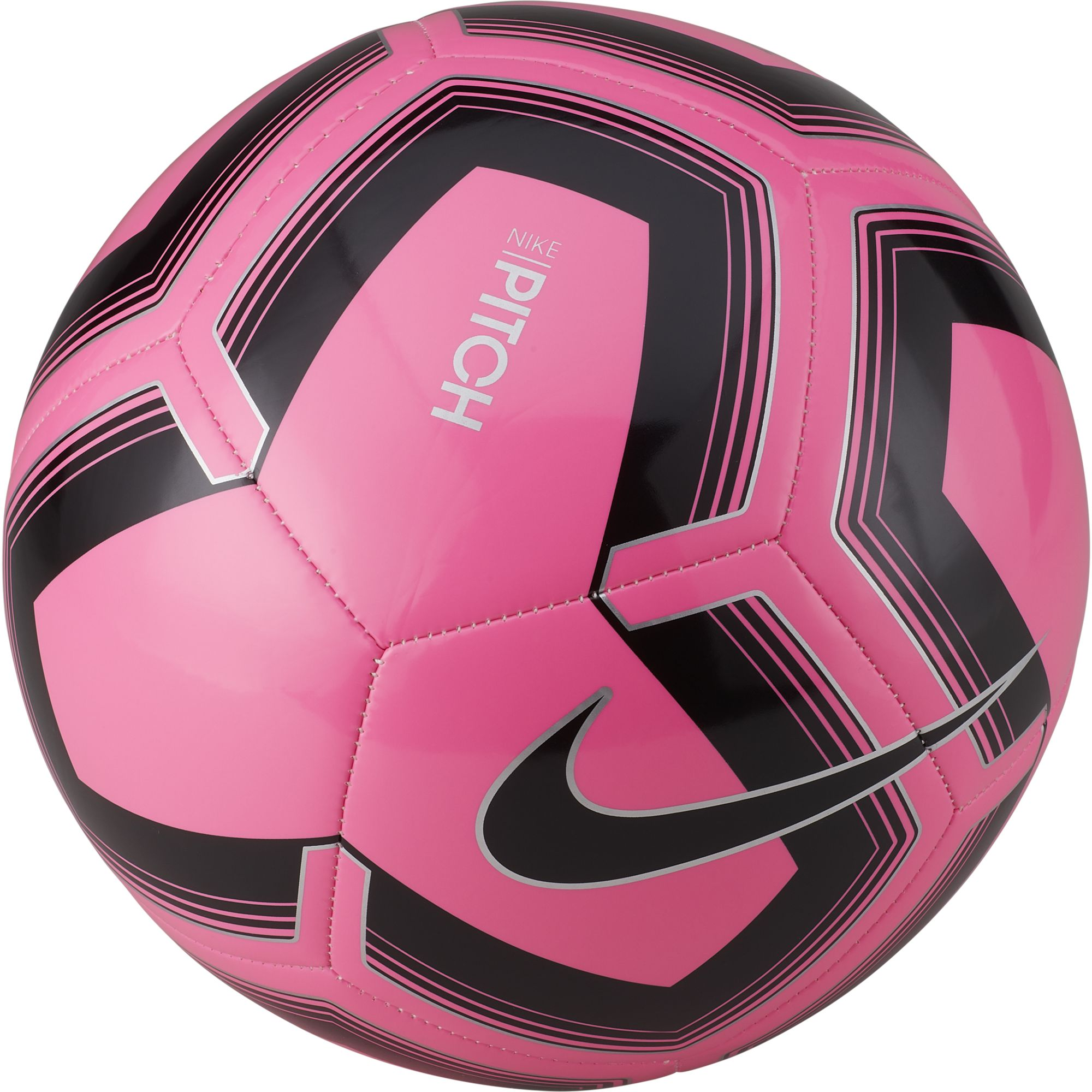 Pitch Training Soccer Ball, Pink/Black/Gray, swatch