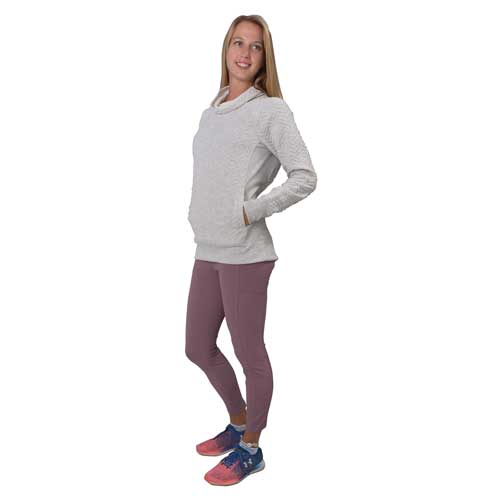 Women's Ribbed Leggings With Pocket, Purple, swatch