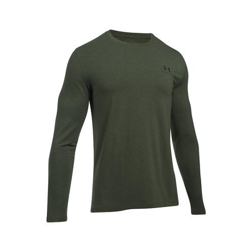 Men's Long Sleeve Left Chest Logo T-Shirt, White, swatch