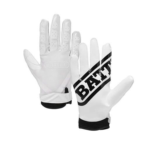 Double Threat Ultra Tack Football Gloves, White, swatch