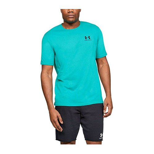 Men's Sportstyle Left Chest Short Sleeve T-Shirt, Green Blue, Teal, swatch