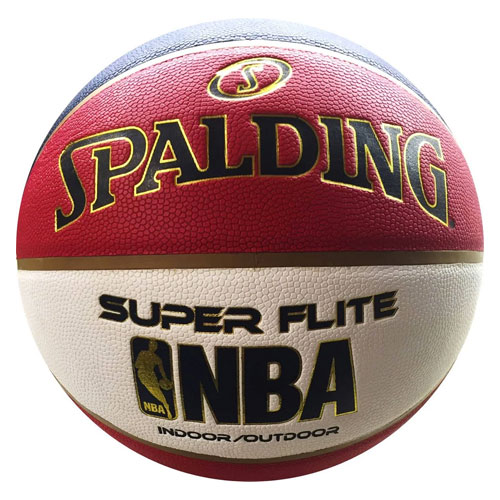 NBA Super Flite Official Size Indoor/Outdoor Basketball, Black/Red, swatch