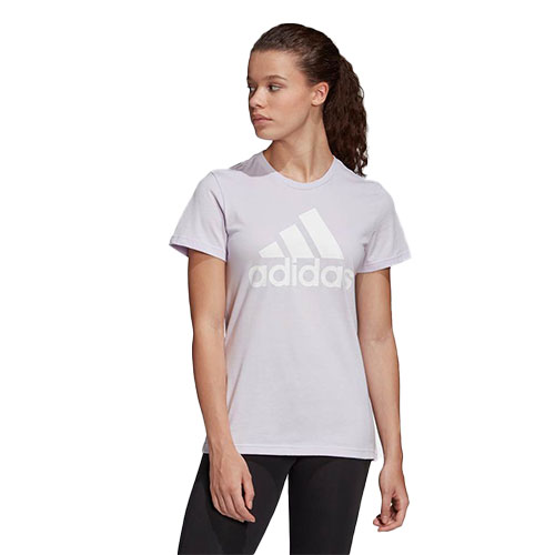 Women's Must Haves Badge of Sport Short Sleeve Tee, Light Purple, swatch
