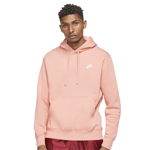 Men's Sportswear Club Fleece Pullover Hoodie, Red, swatch