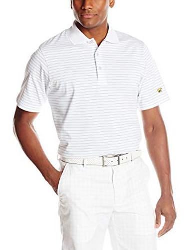 Men's Striped Polo, White, swatch