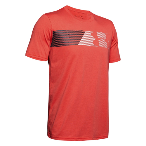 Men's Under Armour Fast Left Tee, Red, swatch