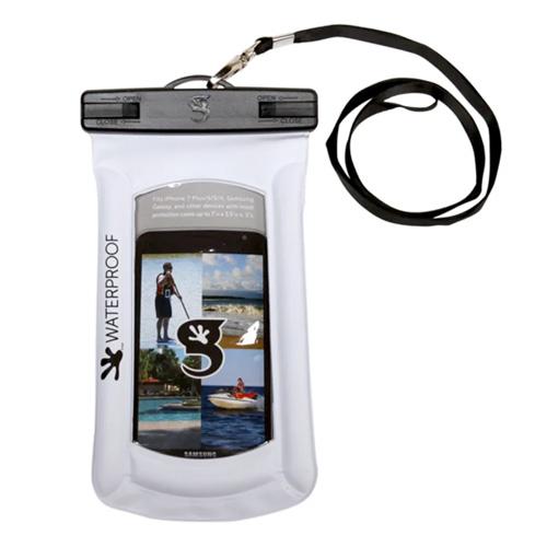 Waterproof Float Phone Dry Bag, White, swatch
