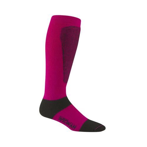 Men's Snow Sirocco Knee-High Performance Wool Ski Socks, Hot Pink,Fuscia,Magenta, swatch