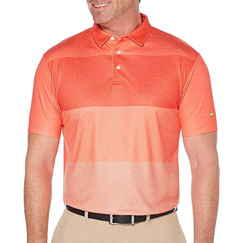 Men's Gradient Golf Polo, Red, swatch