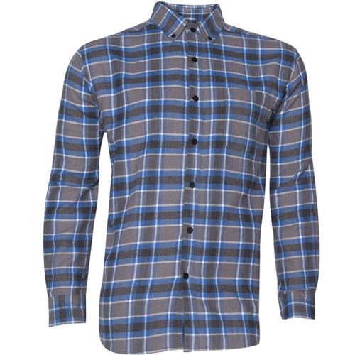 Men's Pike Long Sleeve Flannel Shirt, Gray, swatch