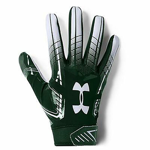 Adult F6 Football Gloves, Green/White, swatch