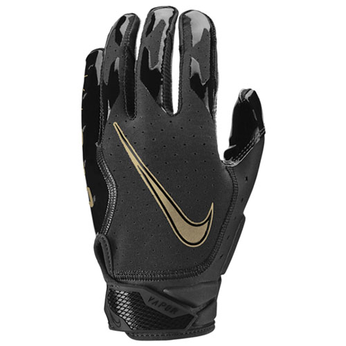 Youth Vapor Jet 6.0 Football Gloves, Black/Gold, swatch