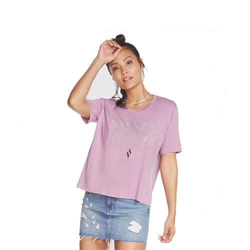 Girls Shine Short Sleeve Tee, Pink, swatch