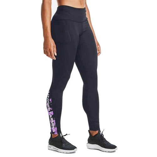 Women's ColdGear Armour Graphic Leggings, Black, swatch