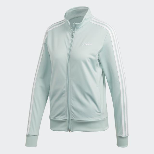 Women's Essential 3 Striped Tricot Front Zip Jacket, Lt Green,Mint,Fern,Seafom, swatch