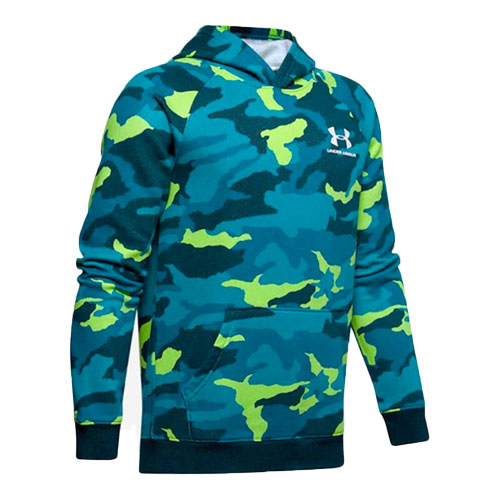 Boy's Rival Camo Printed Hoodie, Green Blue, Teal, swatch