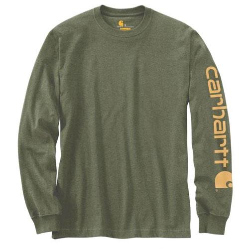 Men's Sleeve Logo Long Sleeve T-shirt, Dkgreen,Moss,Olive,Forest, swatch