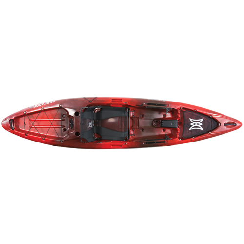 Pescador 12 Pro Angler Kayak, Red/Black, swatch