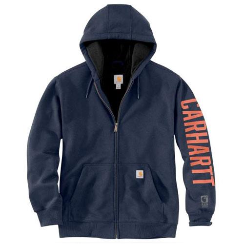 Men's Rain Defender Logo Sweatshirt, Navy, swatch
