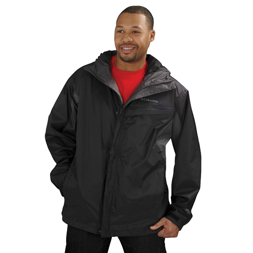 Men's Glenmaker Lake Rain Jacket, Black, swatch