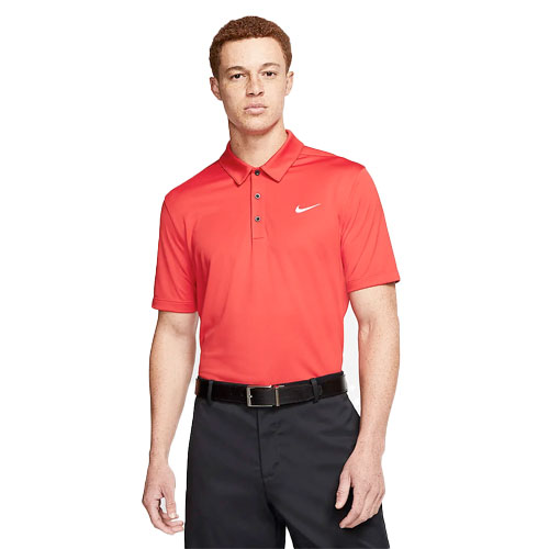 Men's Short Sleeve Football Polo, Red, swatch