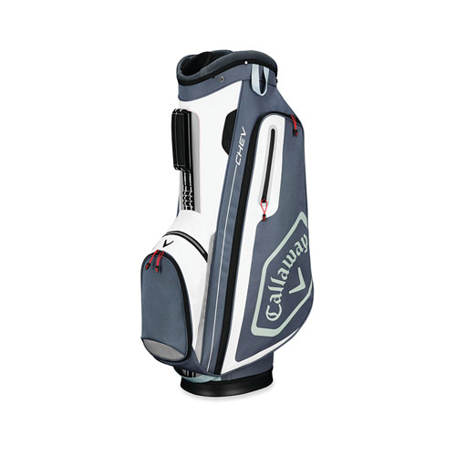 Chev Cart Golf Bag, Gray/White, swatch